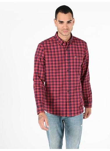 Colin's Colin'S Shirt Neck Uzun Kol Dar Kesim Erkek Gömlek Kırmızı
